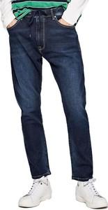 Niebieskie jeansy Pepe Jeans z jeansu w street stylu