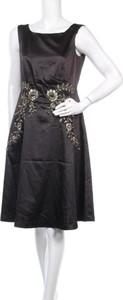 Czarna sukienka Guido Maria Kretschmer bez rękawów z okrągłym dekoltem