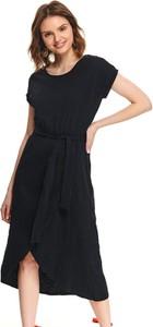 Sukienka Top Secret z okrągłym dekoltem midi z krótkim rękawem