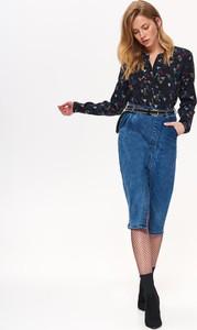 Koszula Top Secret z długim rękawem w młodzieżowym stylu bez kołnierzyka