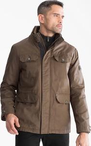 Brązowa kurtka CANDA w stylu casual z bawełny