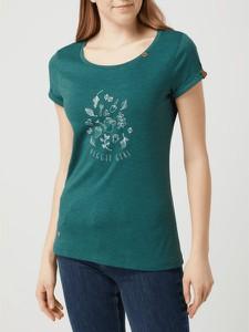 Zielona bluzka Ragwear z okrągłym dekoltem w młodzieżowym stylu z bawełny