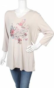 Bluzka Frieda z dekoltem w kształcie litery v z długim rękawem w młodzieżowym stylu