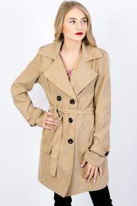 Brązowy płaszcz Olika