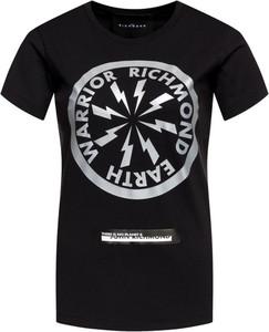 T-shirt John Richmond w młodzieżowym stylu z okrągłym dekoltem