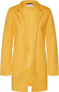 Żółta marynarka Only bez zapięcia z tkaniny