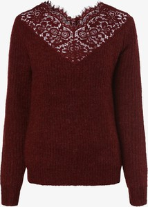 Czerwony sweter Vero Moda z dzianiny