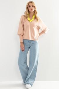 Różowa bluzka Fobya w stylu casual