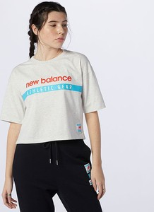 Bluzka New Balance z okrągłym dekoltem z dżerseju w sportowym stylu