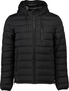 Czarna kurtka Moose Knuckles krótka w stylu casual