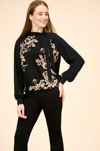 Czarna bluzka ORSAY z okrągłym dekoltem z satyny