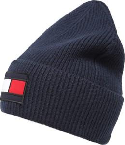 Niebieska czapka Tommy Hilfiger z wełny