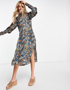 Sukienka Vero Moda z długim rękawem midi