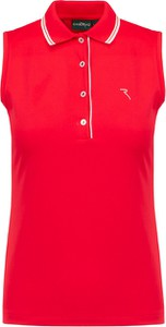 Czerwony top Chervo z tkaniny z dekoltem w kształcie litery v
