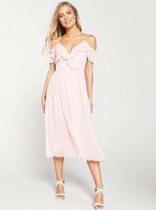 Różowa sukienka V by Very midi
