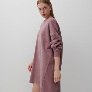 Fioletowa sukienka Reserved z długim rękawem w stylu casual asymetryczna