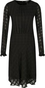 Sukienka DKNY z długim rękawem