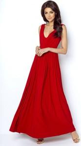 Sukienka Ivon maxi z dekoltem w kształcie litery v