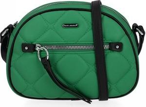 Zielona torebka David Jones na ramię pikowana mała
