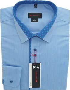 Koszula Klasyka Kielce z włoskim kołnierzykiem z bawełny z długim rękawem