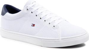 Sneakersy TOMMY HILFIGER - Essential Knit Vulc FM0FM03474 White/Yale Navy 0K5