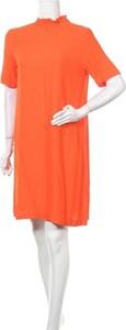 Pomarańczowa sukienka Selected Femme w stylu casual mini