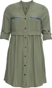 Sukienka bonprix RAINBOW mini szmizjerka z długim rękawem