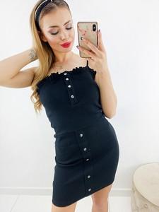 Czarna sukienka Novvi.pl bez rękawów mini
