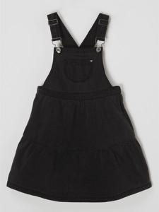 Czarna sukienka dziewczęca Garcia z bawełny