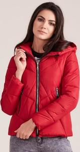 Czerwona kurtka Factory Price w stylu casual krótka