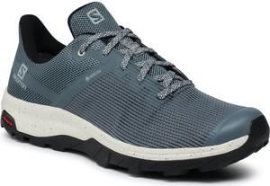 Buty trekkingowe Salomon sznurowane z goretexu
