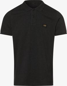 Czarny t-shirt Denham w stylu casual