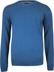 Granatowy sweter Adriano Guinari w stylu casual z bawełny