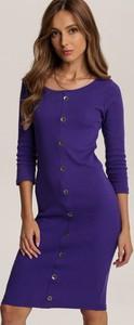 Granatowa sukienka Renee mini prosta
