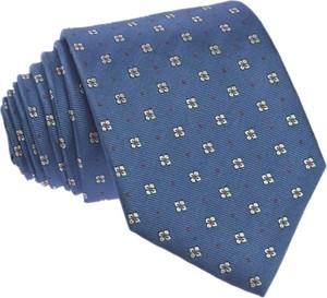Granatowy krawat republic of ties w stylu boho z wełny