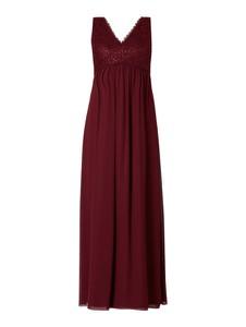 Czerwona sukienka Jake*s Cocktail z szyfonu bez rękawów z dekoltem w kształcie litery v