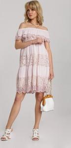 Sukienka Renee z krótkim rękawem mini prosta