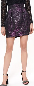 Fioletowa spódnica Top Secret w stylu casual