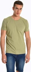 Zielony t-shirt Gate z krótkim rękawem