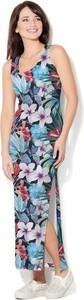 Sukienka COLOUR PLEASURE z okrągłym dekoltem maxi