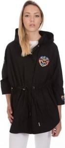 Czarny płaszcz Pinko z bawełny w stylu casual