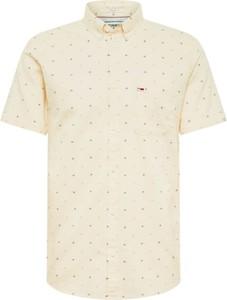 Koszula Tommy Jeans z krótkim rękawem z klasycznym kołnierzykiem
