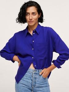 Niebieska koszula Mango