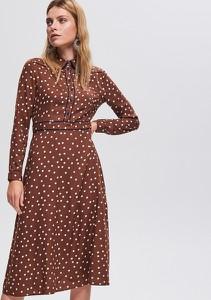 e0dad8f3 Brązowe sukienki koszulowe z Reserved, kolekcja wiosna 2019