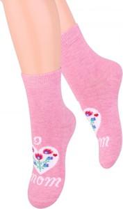 Różowe skarpetki Steven z bawełny dla dziewczynek