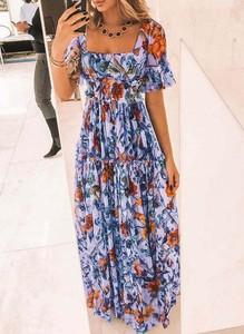 Sukienka Cikelly maxi z krótkim rękawem