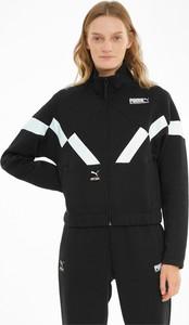 Czarna kurtka Puma w sportowym stylu z bawełny