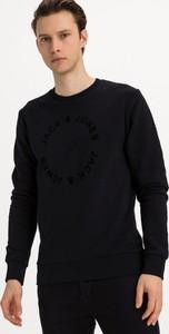 Czarna bluza Jack & Jones w stylu casual z zamszu