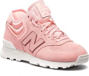 Buty sportowe New Balance sznurowane z nubuku z płaską podeszwą
