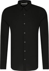 Czarna koszula Calvin Klein z klasycznym kołnierzykiem